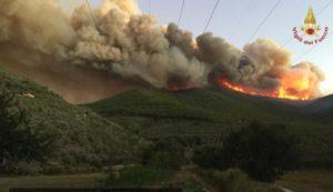 Incendio Monte Serra: cacciatori tra i soccorritori